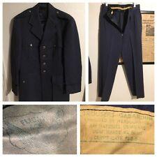 WWII Korean Era USAF Pilot Tropical 84 Blue Gabardine Dress Uniform & cap