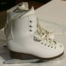 Girls Jackson Glacier 520 Figure Ice Skates, White, Size 1