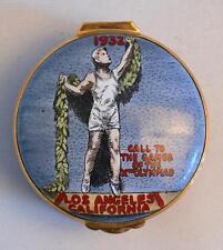 English Enamels by Crummles 1932 Los Angeles California Olympics Box