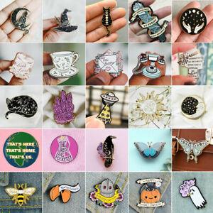 Butterfly Halloween Cartoon Enamel Brooch Pin Collar Badge Corsage Jewelry Gift