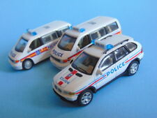 Three Cararama Hongwell 1/72 scale BMW & MERCEDES POLICE vehicles