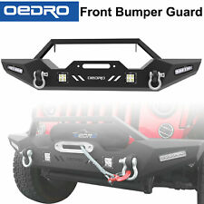 Textured Front Bumper Combo + 4x LED Lights Fit for 2007-2018 Jeep Wrangler JK