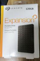 "Disque dur externe portable Seagate 120GO 2.5"" Usb 3.0 Et Usb 2.0 Neuf"