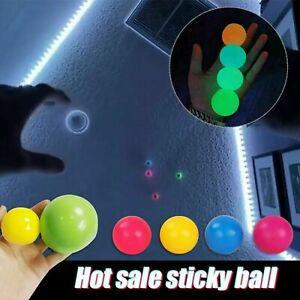 4pcs Sticky Balls Sticky Balls for Ceiling Stress Relief Globbles Stress Kid Toy