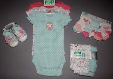 Baby girl clothes, Newborn, Carter's bodysuits, pants, socks, shoes