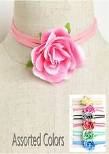 Women Fashion Jewelry Vintage Retro Floral Wrap Choker Necklace Casual Summer
