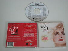 WHO'S THAT GIRL/SOUNDTRACK/MADONNA/VARIOS ARTISTAS(SIRE 925 611-2) CD ÁLBUM