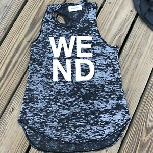 SOULCYCLE Racerback Tank Top Gray Burnout Size Small WEND West End Washington DC