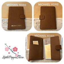 NWT MICHAEL KORS JET SET TRAVEL SAFFIANO LEATHER PASSPORT CASE WALLET IN LUGGAGE