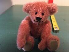"Little Gem Teddy Bear Jasmine Pink Mohair Miniature 4"" Bear #668/3000"