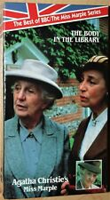 Agatha Christie's Miss Marple THE BODY IN THE LIBRARY (vhs) J. Hickson NEW. Rare