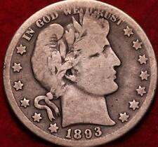 1893-O New Orleans Mint Silver Barber Half Dollar