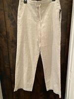 "KIM ROGERS WOMENS PANTS SIZE PETITE MED NWT ""FLAX"" Colored Orig $44"