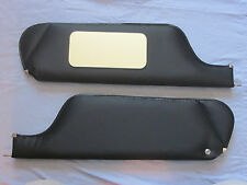 1970  camaro new sun visors with vanity mirror black non perforated