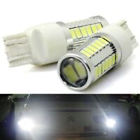 Lamp Bright Auto Bulb White DC 12V 7443 33 SMD W21/5W LED Car Tail Brake Light
