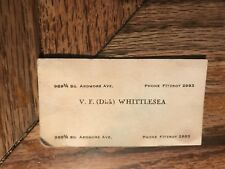 V. F. (Dick) Whittlesa Business Card 989 3/4 So. Ardmore Ave Phone Fitzroy 2983