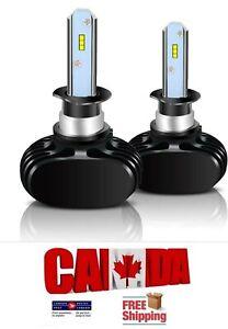 2x H3 LED 72W 16000LM Pair Headlight Kit Set Light Bulb 6500K White Light