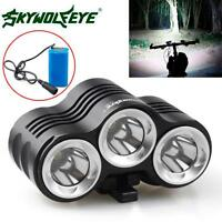 12000LM Rehargeable Bike 3x CREE XM-L T6 LED Bicycle Lamp Outdoor Headlight Kit