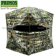 Primos Double Bull Deluxe Hub Ground Blind Hunting w/ Bag Truth Camo 60061
