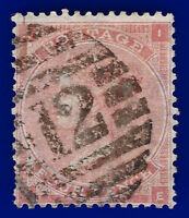 1862 SG80 4d Pale Red IE Good Used London Foreign Branch 12 CV £140 aabg