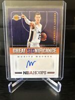 2018-19 NBA Hoops Great Significance Moritz Wagner Rookie Lakers Auto Card Rare