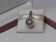 New w/BOX Pandora Morning Butterfly Pink Dangle Charm 791258PCZ