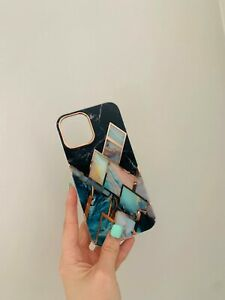 Blue Black Gold IphoneX/XS luxury phone case