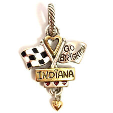 Authentic Brighton ABC Indiana Charm, J91362 Silver and Gold Finish, New