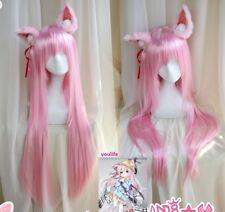 Azur Lane Kisaragi Pink Anime Cosplay Hair Wig Ears