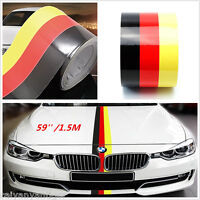 59'' 1.5M Germany Flag Stripe Car Hood Vinyl Sticker Emblem Graphics Decal Body