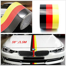 59'' 1.5M Germany Flag Stripe Car Hood Vinyl Sticker Emblem Graphics Decal Body