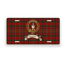 MacAlister Scottish Clan Novelty Auto Plate Tag Family Name License Plate