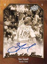 SAM CASSELL 2010 UD Greats of Game Autograph Milwaukee Bucks
