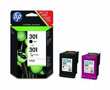 Kit Cartuccia HP 301 Nero e Colore Originale Confezione 2 Cartucce HP 301