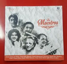 THE MAESTROS 4 CD Set. Khan, Chaurasia, Shankar, Banerjee & More from India(A-0)