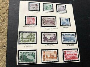 canada stamps mhog scv 14.00 d323