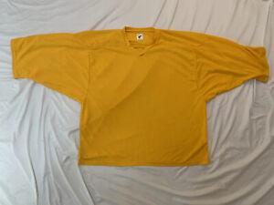 Pear Sox Men's Air Mesh Practice Hockey Jersey Yellow Size Goalie