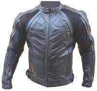 Giubbino Giacca Moto Pelle Sportiva CE Protezioni Rimovibili Sfodrabile Tg , 4XL