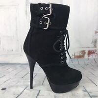 "BAKERS ""Chloe"" Black Leather Upper Side Zip Spike Heels ~ Women's Sz 5.5 ~ NWOB"
