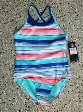 NEW UNDER ARMOUR YOUTH GIRLS ONE PIECE BATHING SWIMSUIT SIZE: 10