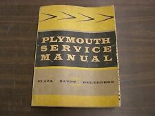 Original 1957 1958 Plymouth Shop Manual Book Belvedere Savoy Plaza