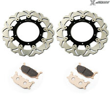 Front Brake Disc Rotors Pads for Yamaha FZ6R 09-15 XJ6 Diversion 600 N F S 10-13