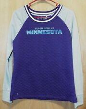 NFL Super Bowl LII MINNESOTA Ladies Long Sleeve Sweatshirt Size M Ntigua