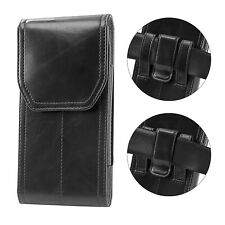 For Samsung Galaxy Note 10+ Note 9 Leather Belt Loop Vertical Pouch Holster Case