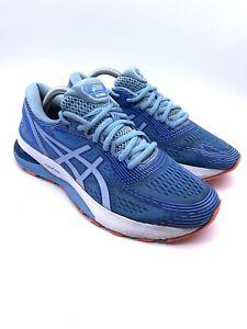 Asics Gel Nimbus 21 Blue Coast Skylight Marathon Running Trainers Uk 8 42