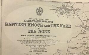 ADMIRALTY  SEA  CHART. KENTISH KNOCK & THE NAZE. No.1975 ENGLAND  E. COAST. 1934