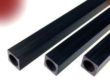 Carbon-Vierkant-Rohr 10.0x10.0 x 1000 mm (mit runder Bohrung 8.0 mm) CFK