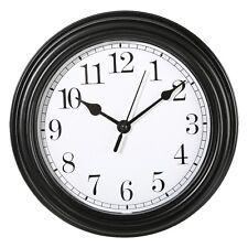 Wanduhr Küchenuhr Uhr Nostalgie Landhaus antik Classic Büro 22 cm Schwarz Rund