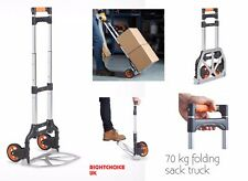 More details for folding sack truck 70kg safe working load vonhaus brand new lightweight compact