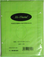 """1000 x H.D White Counter/Freezer Bags 10x12"""" For Food Use """"Hi-Thene"""" *FREE P&P!*"""